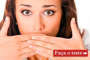 Teste se você tem halitose